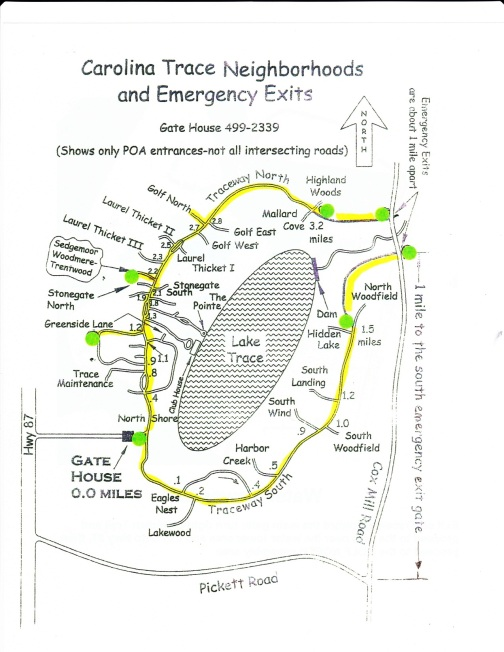 Emergency Exits and Map